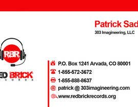 nº 3 pour Design some Business Cards for red brick records par ezesol