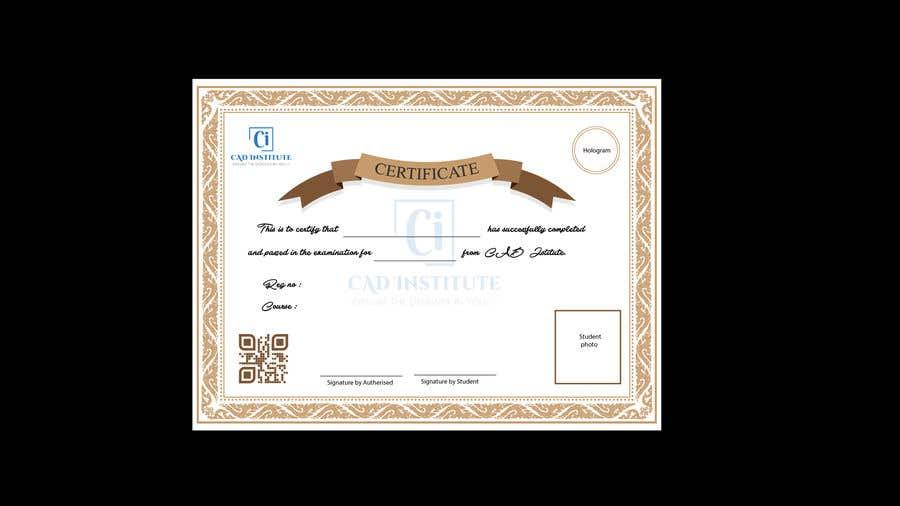 Konkurrenceindlæg #                                        1                                      for                                         Design 2 Certificates & 1 Marksheet format (for both Digital Certification & Hard Copy)