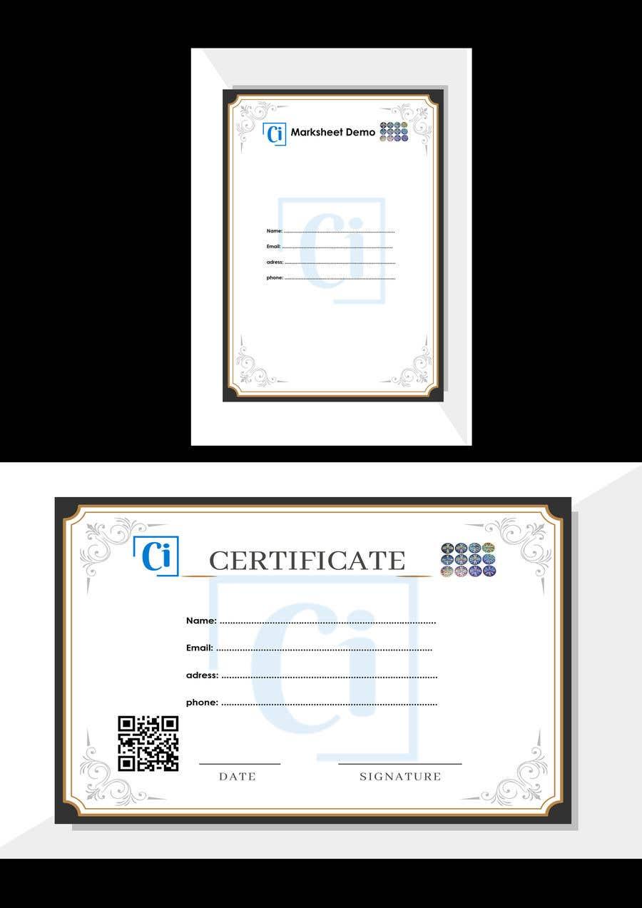 Konkurrenceindlæg #                                        14                                      for                                         Design 2 Certificates & 1 Marksheet format (for both Digital Certification & Hard Copy)