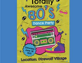 #191 for 80s  Dance Party invitation/flyer by gangnamcreative