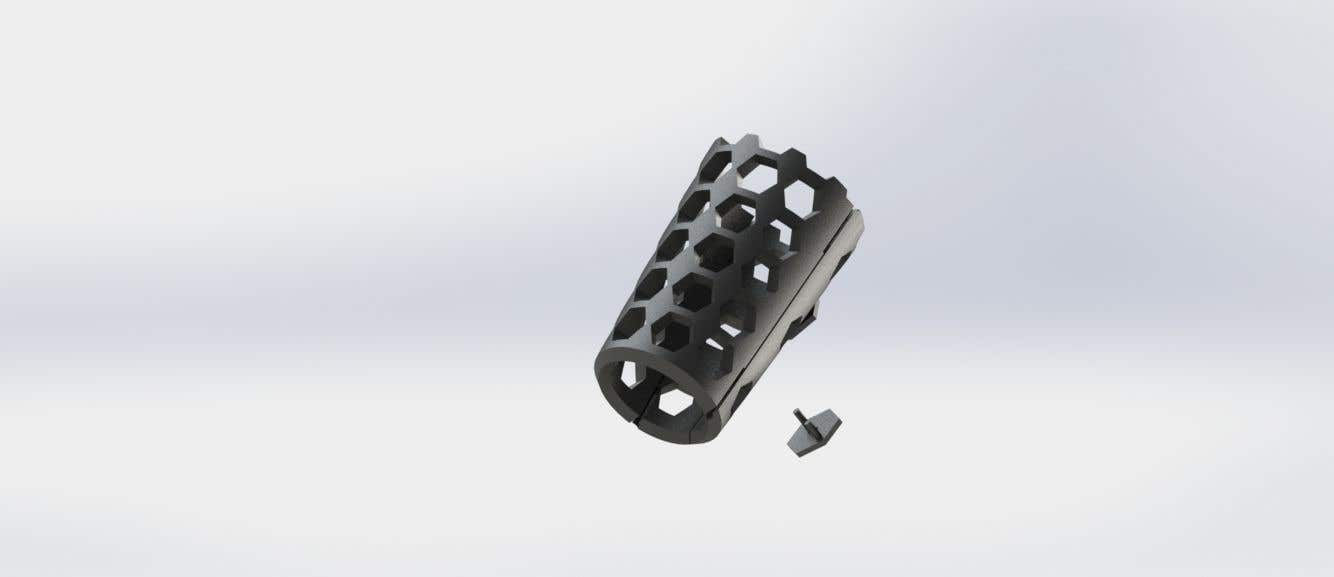 Kilpailutyö #                                        25                                      kilpailussa                                         CAD gauntlet re-design