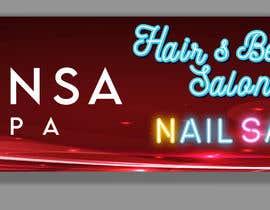 #139 untuk Design an store overhead signage for a Salon and Spa oleh joyantabanik8881