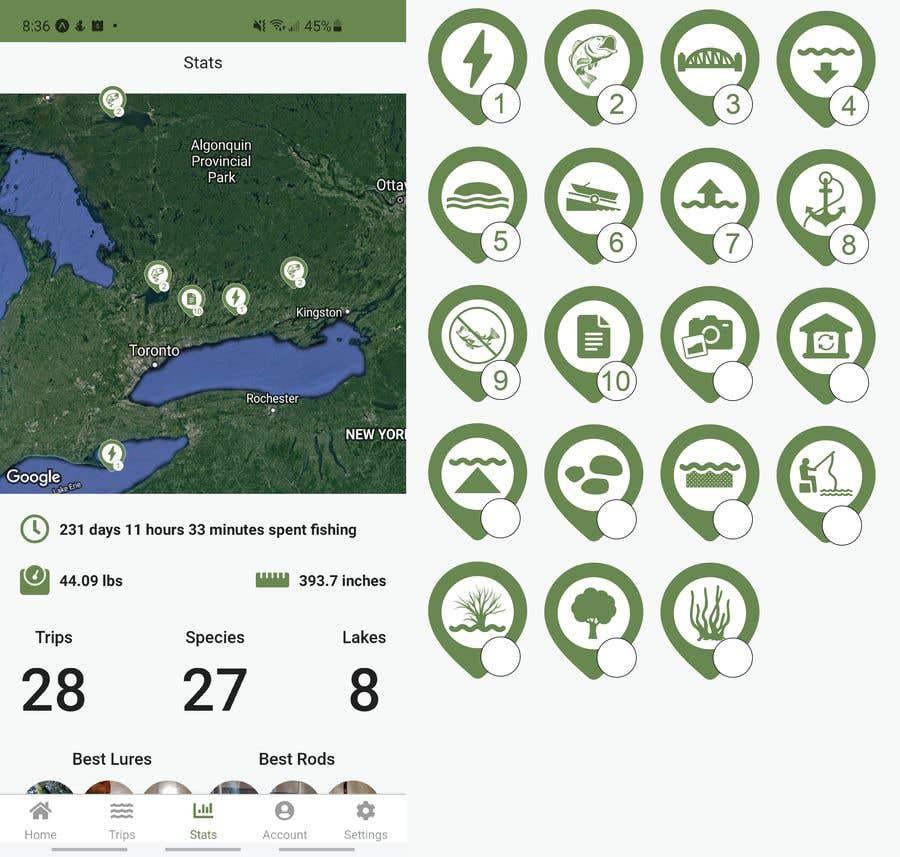 Penyertaan Peraduan #                                        16                                      untuk                                         Design map markers for the following features