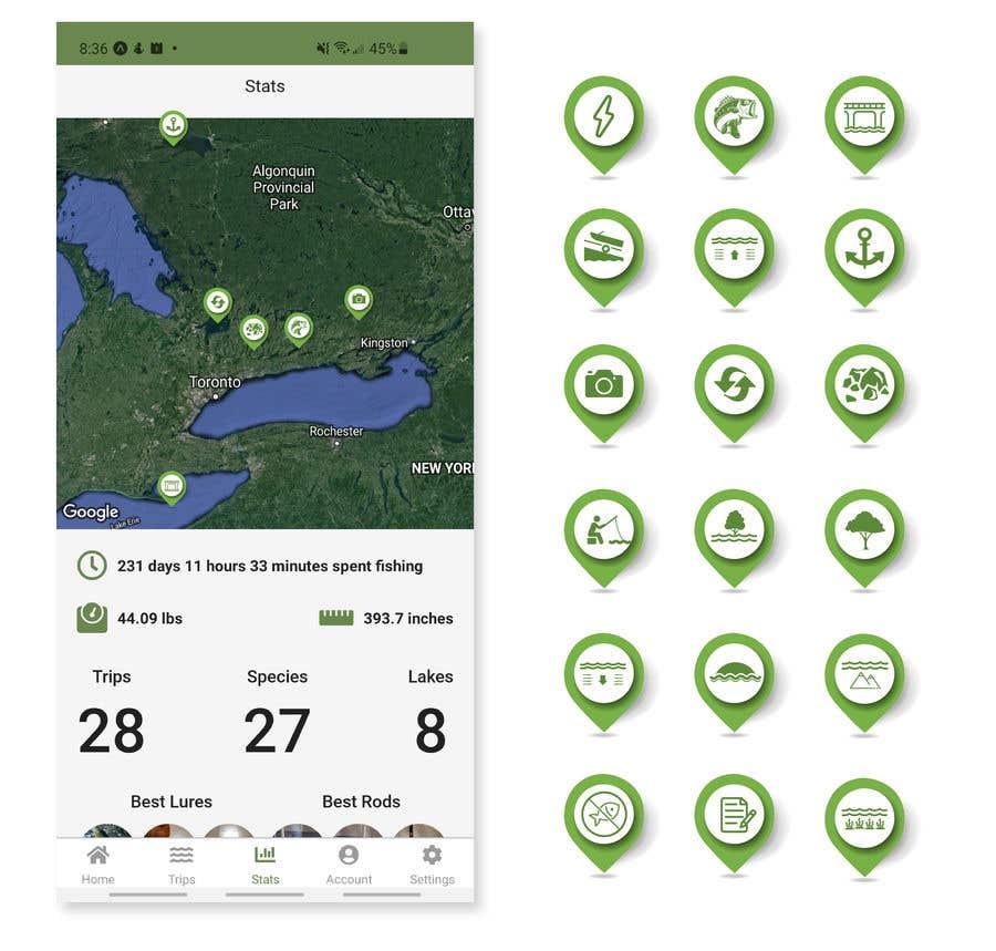 Penyertaan Peraduan #                                        21                                      untuk                                         Design map markers for the following features