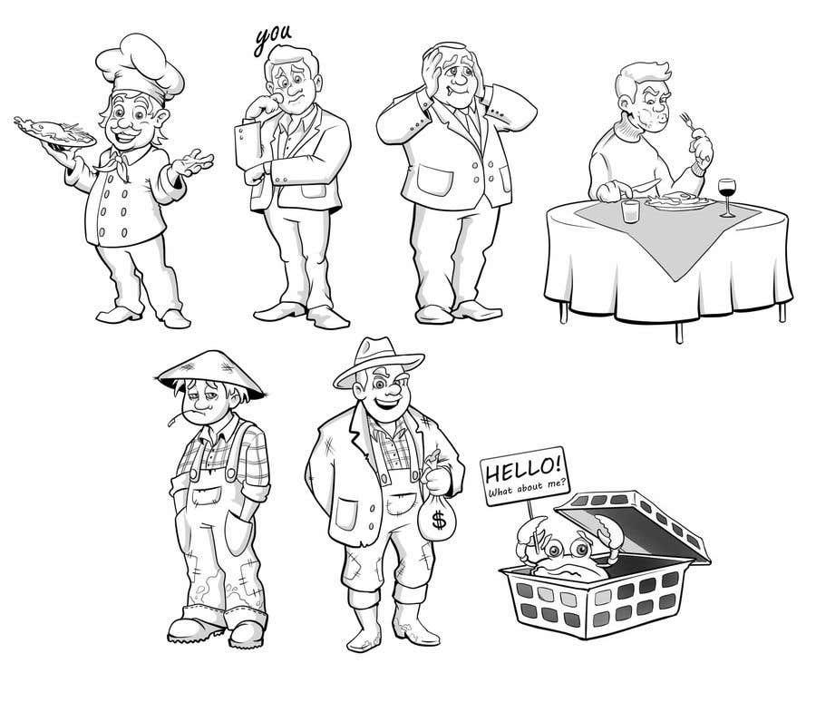 Proposition n°                                        29                                      du concours                                         Draw us 7 black pen line characters