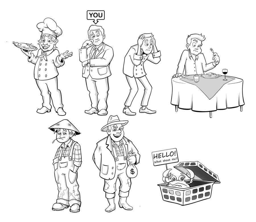 Proposition n°                                        39                                      du concours                                         Draw us 7 black pen line characters