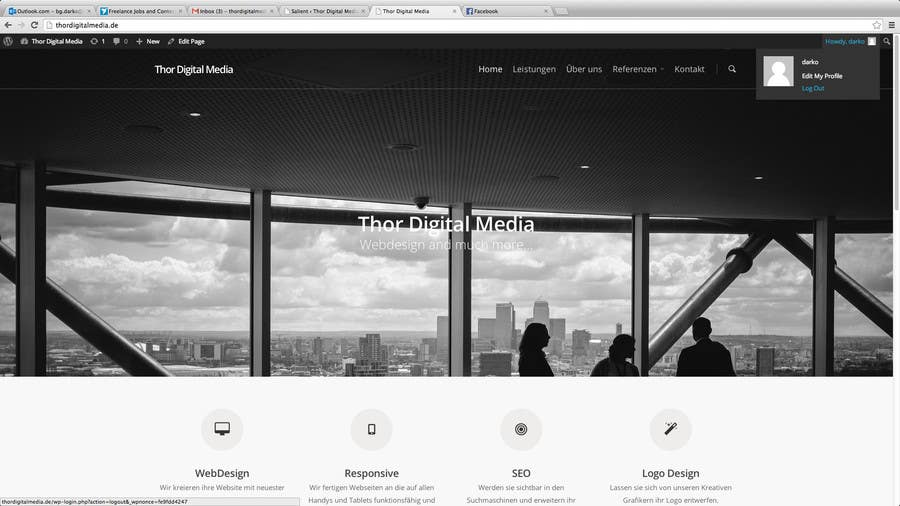 Konkurrenceindlæg #3 for Wordpress Themes anpassen