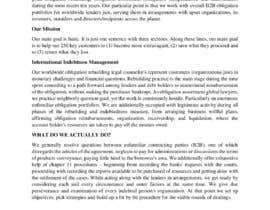 nº 8 pour Business article about international debt collection par EngrSaleem53