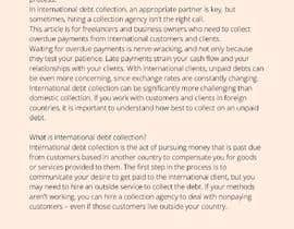 nº 14 pour Business article about international debt collection par malimali110
