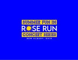 #161 untuk Summer Fun Rose Run Concert Series Logo for Tee shirts oleh MariaAkter17th