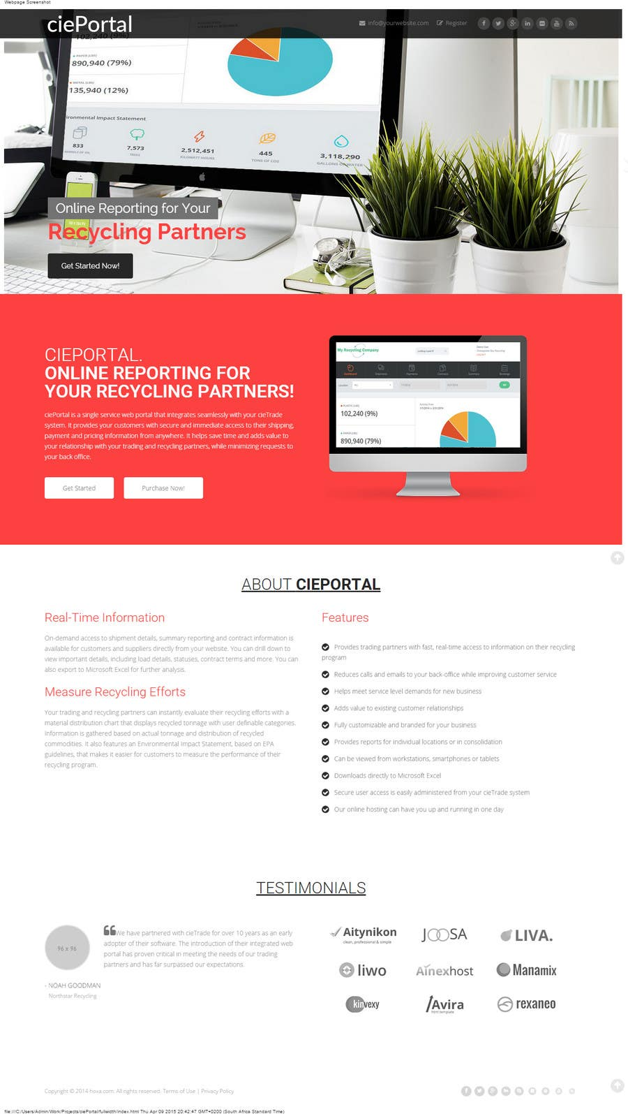 Proposition n°                                        4                                      du concours                                         Webpage design for software company