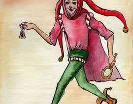 #21 for Illustrate German trickster figure Till Eulenspiegel for book cover af embernata