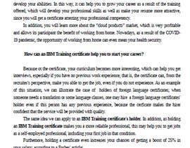 #17 untuk Present how an IBM Certification would accelerate your career or business oleh clautenisjunior