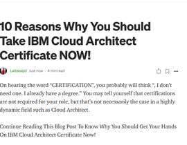 #75 untuk Present how an IBM Certification would accelerate your career or business oleh laibasajid601