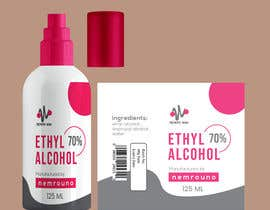 #39 for Alcohol spray 125ml label design by shiblee10