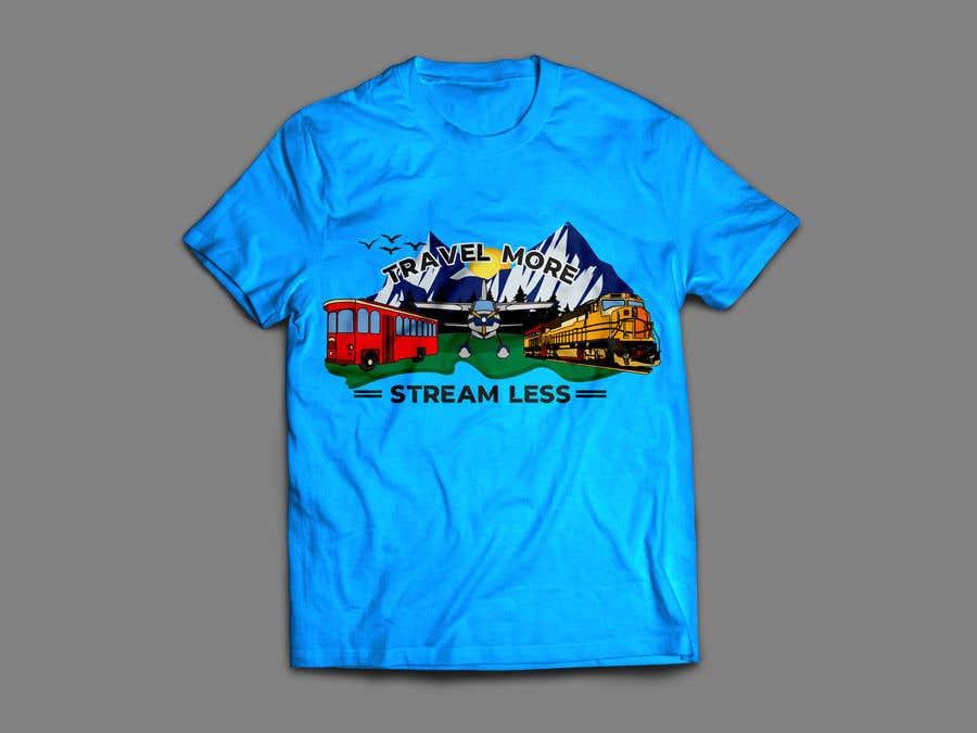 Конкурсная заявка №                                        2                                      для                                         Travel More Stream Less tshirt