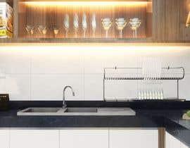 #33 untuk 3D Rendering of a Kitchen Design oleh misalpingua03