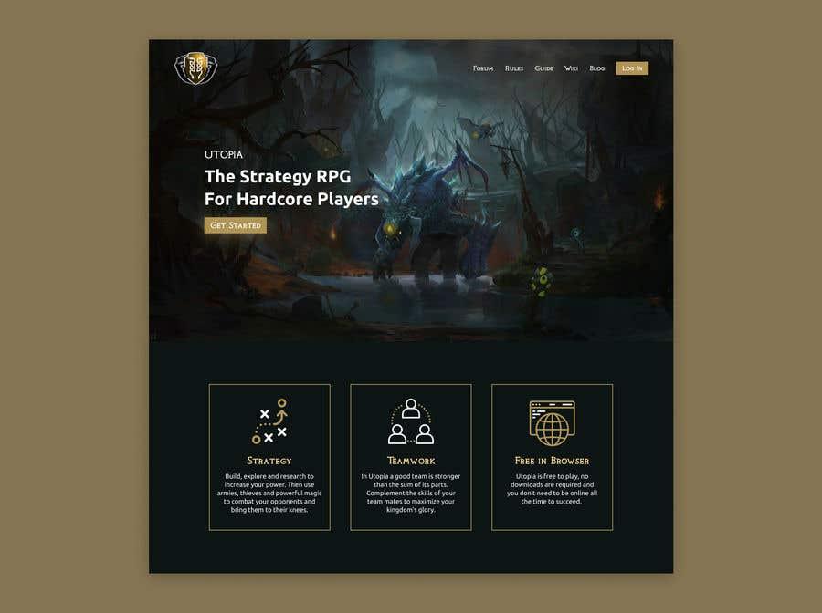 Bài tham dự cuộc thi #                                        54                                      cho                                         Utopia Game Home Page and Logo