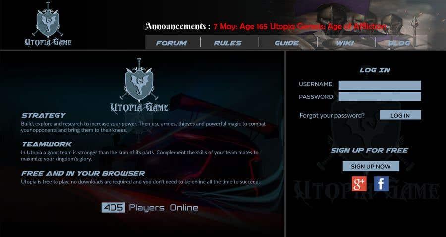 Bài tham dự cuộc thi #                                        49                                      cho                                         Utopia Game Home Page and Logo