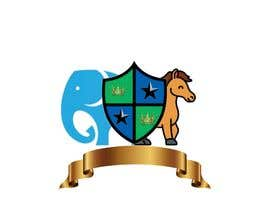 #17 para Coat of Arms logo using elephant on the left, horse on the right.  a chicken in the middle, and a cute looking snake somewhere (part of the 4 squares) or at bottom? This logo is for a kids brand.  Pastel Water color is preferable. por freelancerbipla1