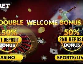 nº 17 pour Double Welcome Bonus Banner par artoondesigns18