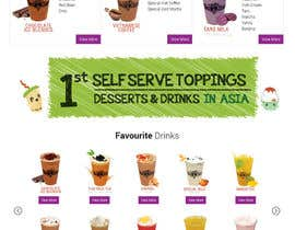 #18 for Design a Website Mockup for Bubble Tea business by Lakshmipriyaom