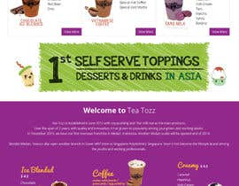 #22 for Design a Website Mockup for Bubble Tea business by Lakshmipriyaom