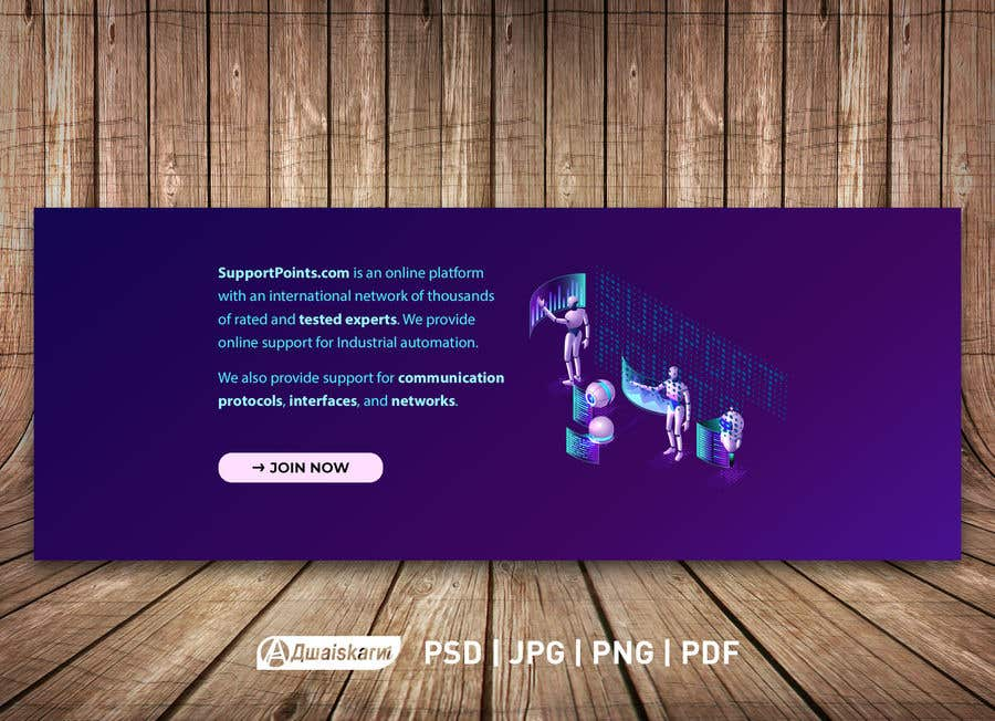 Kilpailutyö #                                        8                                      kilpailussa                                         Banner design for technical platform