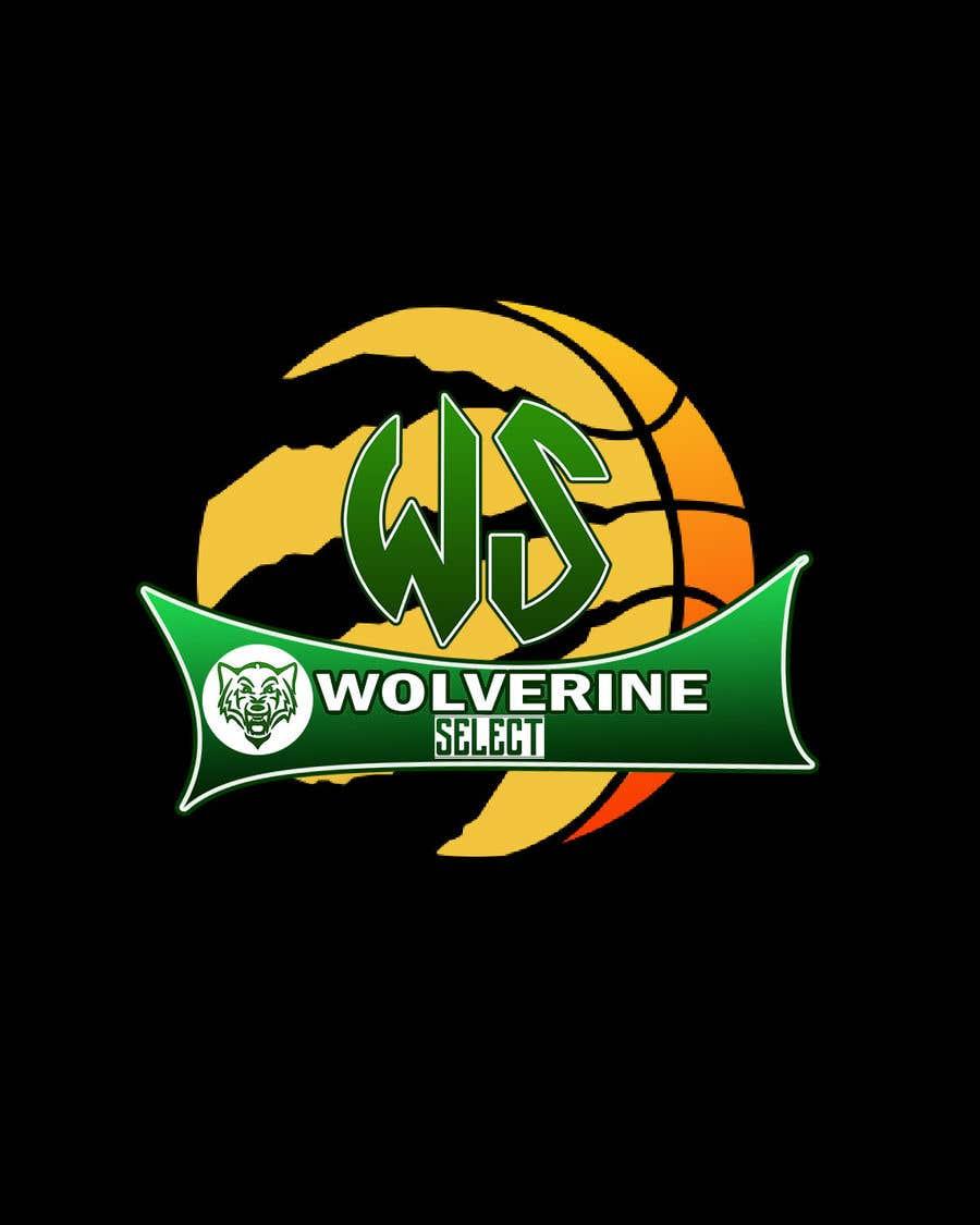 Konkurrenceindlæg #                                        38                                      for                                         Logo for Basketball team (Wolverine Select)