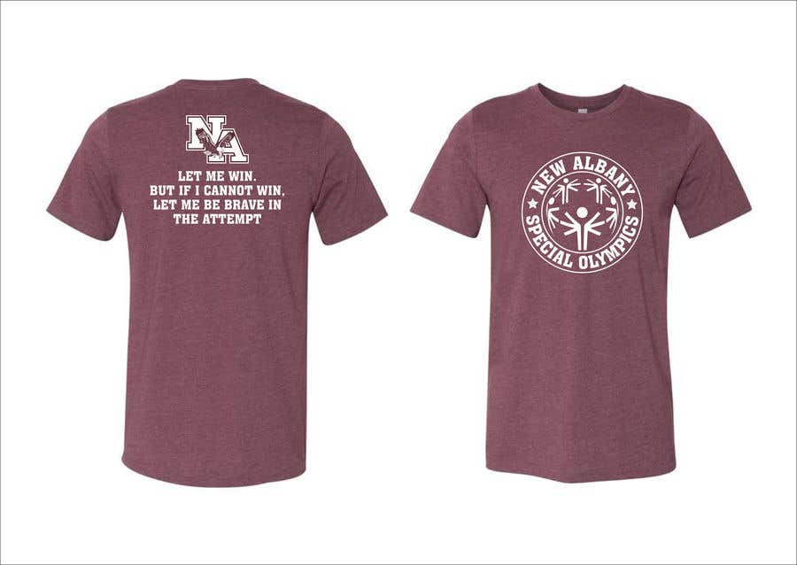Konkurrenceindlæg #                                        137                                      for                                         New albany Special Olympics Tee Shirt Design