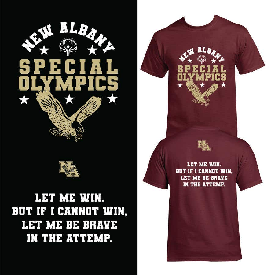 Konkurrenceindlæg #                                        121                                      for                                         New albany Special Olympics Tee Shirt Design