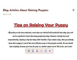 #5 para Write two blog articles about raising puppies (opportunity for long-term collaboration) por Blogger137