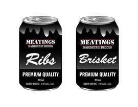 #25 for Design craft beer label for barbecue restaurant af fatimaC09