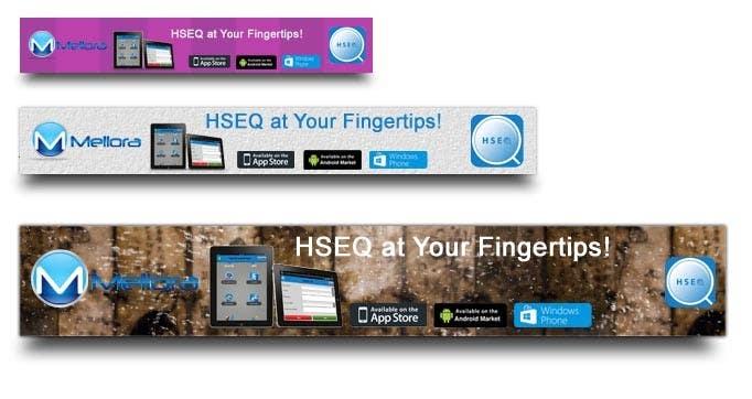 "Kilpailutyö #                                        17                                      kilpailussa                                         Design a Banner for Mellora's app ""HSEQ"""