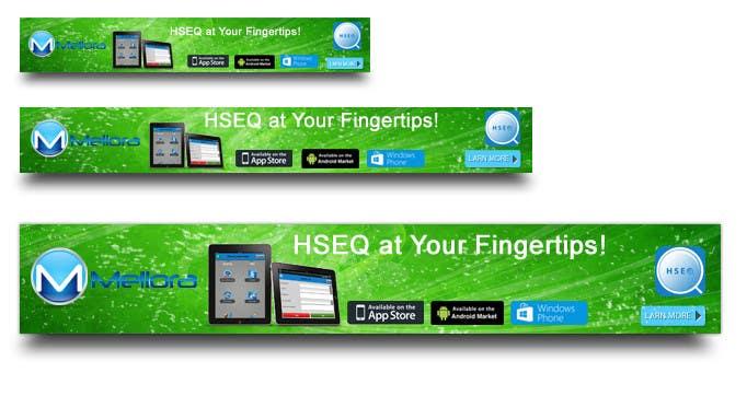 "Kilpailutyö #                                        18                                      kilpailussa                                         Design a Banner for Mellora's app ""HSEQ"""