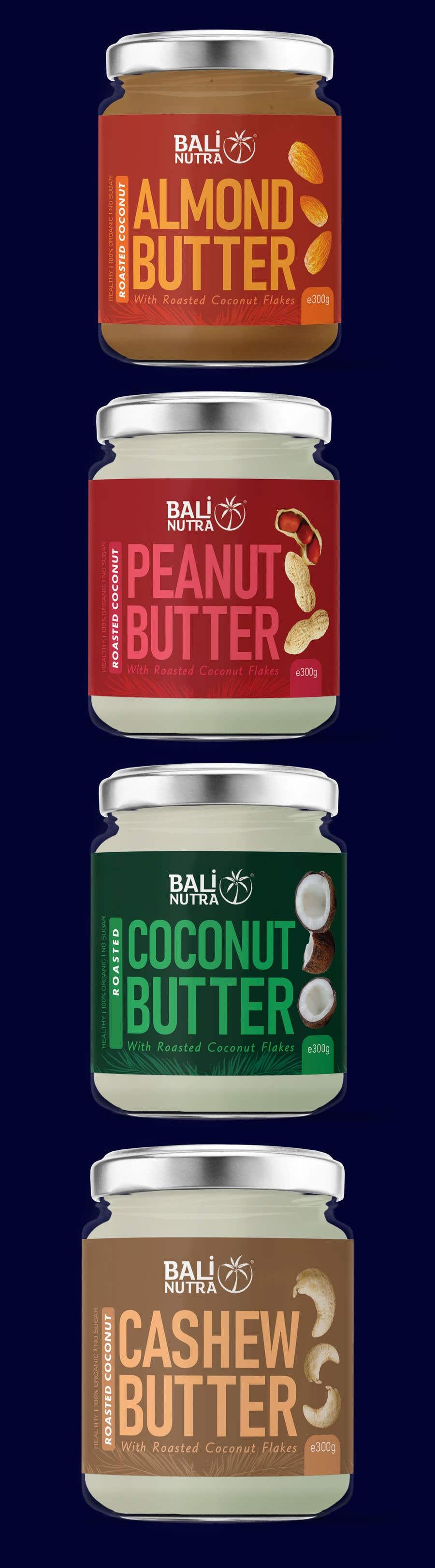 Konkurrenceindlæg #                                        49                                      for                                         Food Label design (4 x flavors of Butter, Almond, Peanut, Cashew, Original)