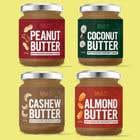 Graphic Design Konkurrenceindlæg #55 for Food Label design (4 x flavors of Butter, Almond, Peanut, Cashew, Original)
