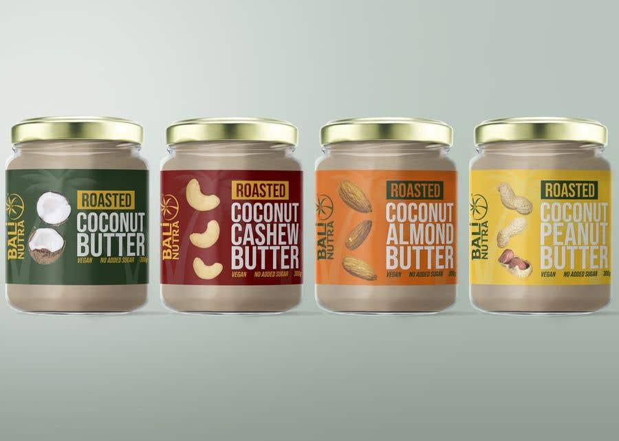 Konkurrenceindlæg #                                        52                                      for                                         Food Label design (4 x flavors of Butter, Almond, Peanut, Cashew, Original)