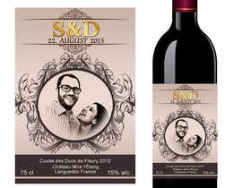 nº 6 pour Design a wine bottle label for a wedding! par AhmedAmoun