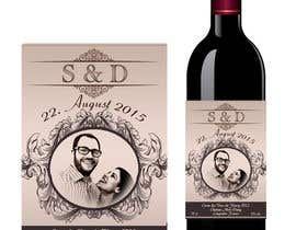 nº 42 pour Design a wine bottle label for a wedding! par AhmedAmoun