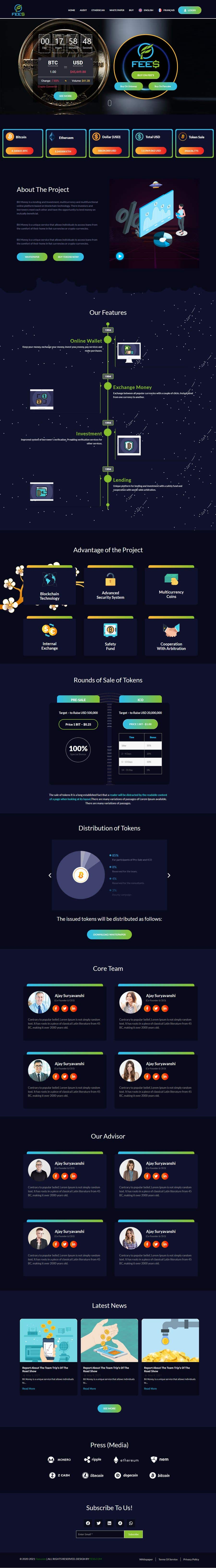 Contest Entry #                                        43                                      for                                         Design Website for Crypto Coin
