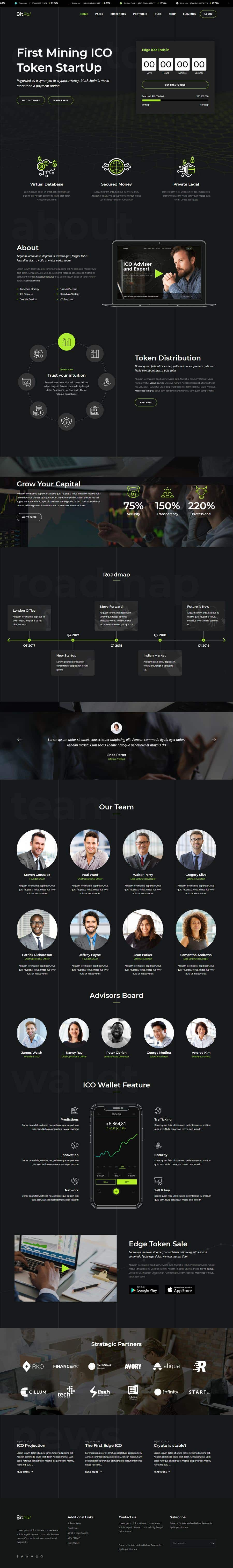 Contest Entry #                                        47                                      for                                         Design Website for Crypto Coin
