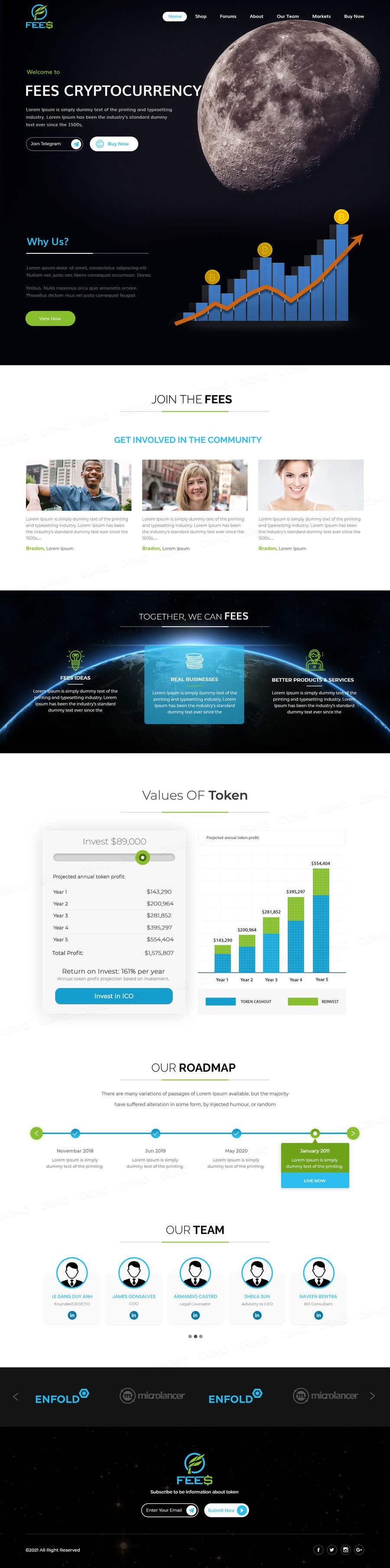 Contest Entry #                                        55                                      for                                         Design Website for Crypto Coin