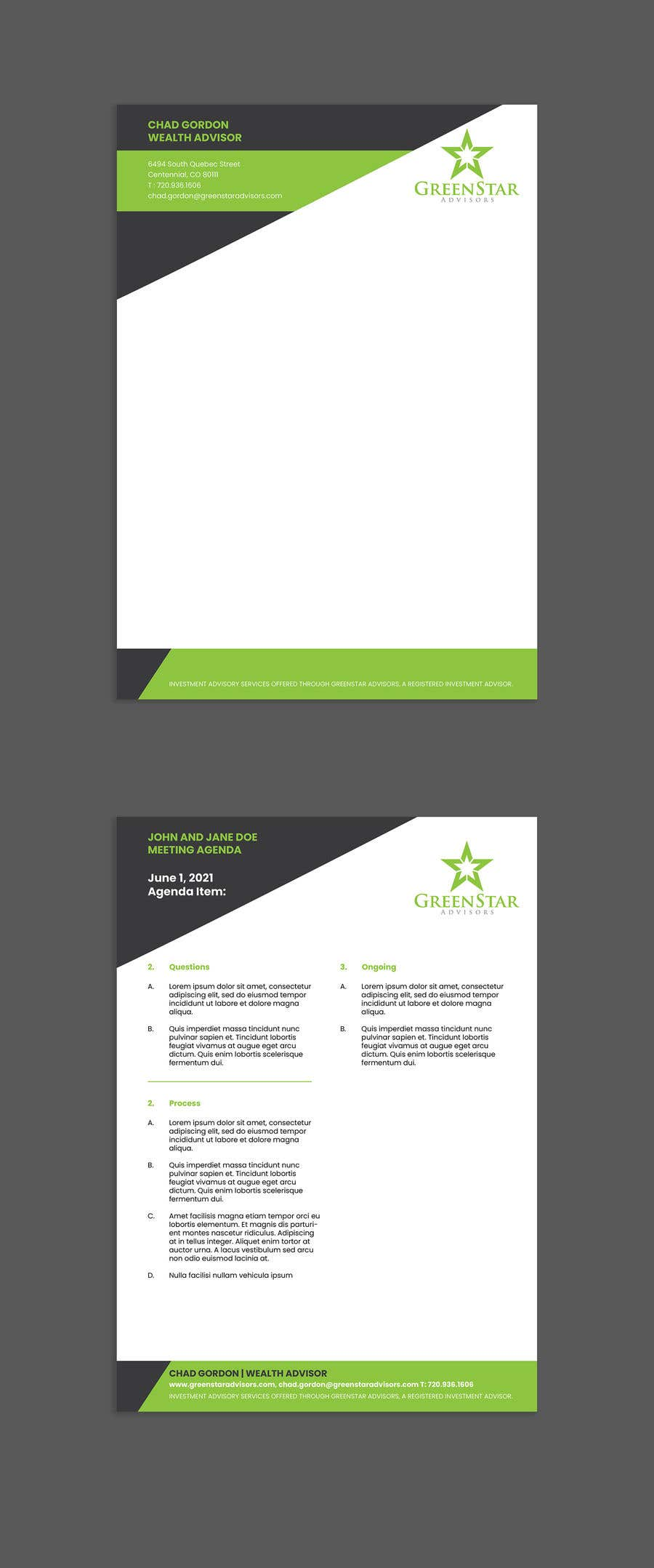 "Penyertaan Peraduan #                                        6                                      untuk                                         Design a Letterhead, Agenda, Microsoft Word ""Style Set"""