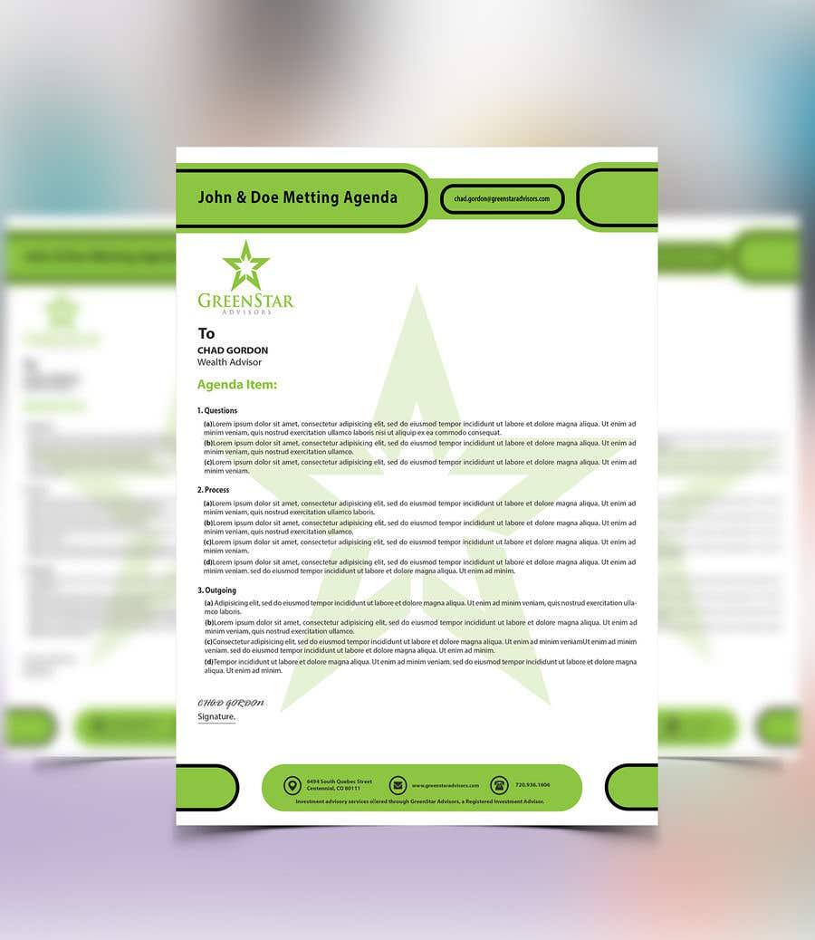 "Penyertaan Peraduan #                                        35                                      untuk                                         Design a Letterhead, Agenda, Microsoft Word ""Style Set"""