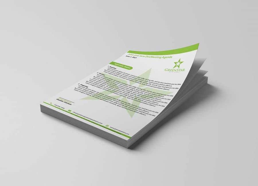"Penyertaan Peraduan #                                        60                                      untuk                                         Design a Letterhead, Agenda, Microsoft Word ""Style Set"""