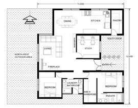 Nro 25 kilpailuun Home Floor Plan käyttäjältä julietadejeanne