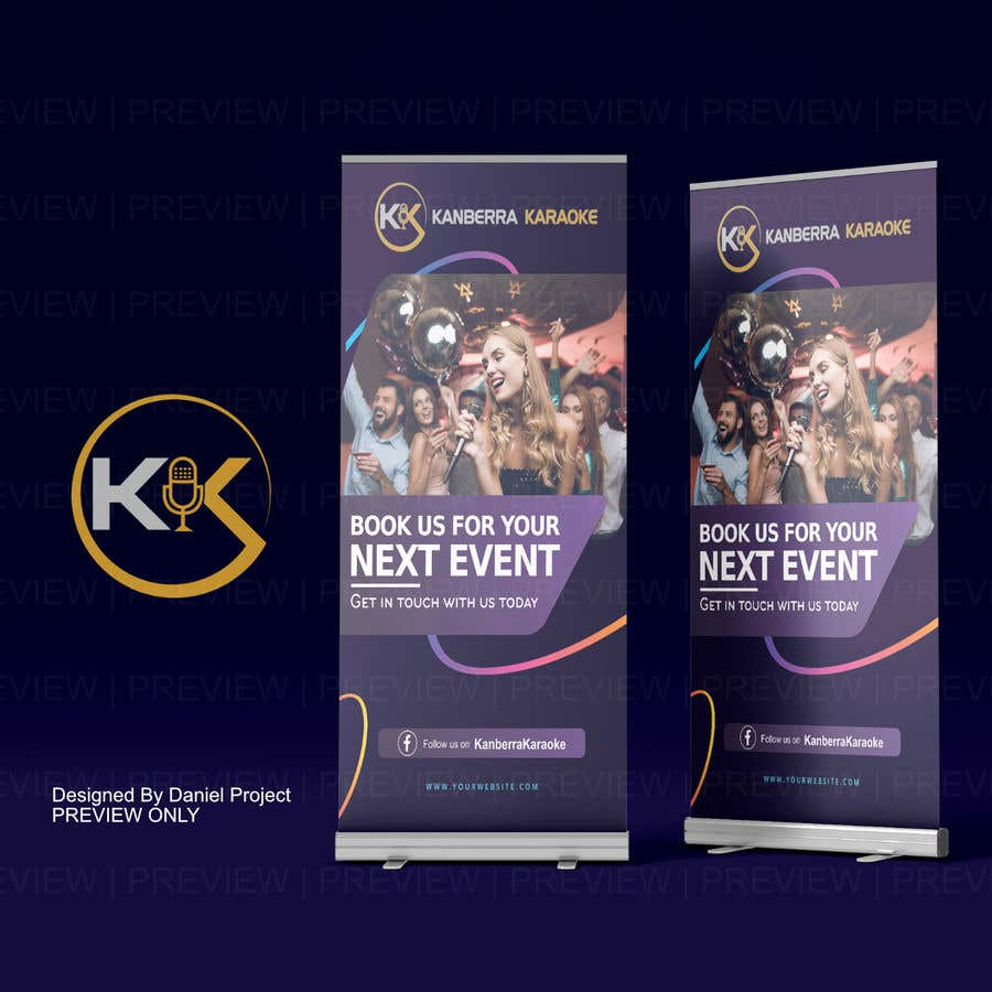 Contest Entry #                                        9                                      for                                         Pull Up Banners - For my Karaoke Business.