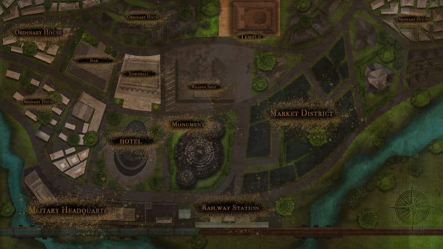 Kilpailutyö #                                        10                                      kilpailussa                                         Нужно нарисовать карту района города для DnD игры.