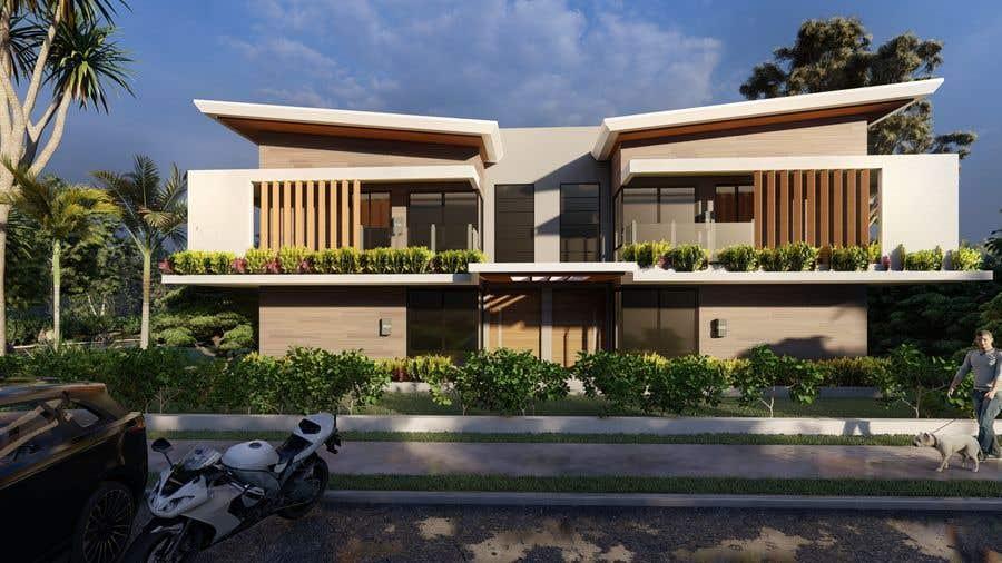 Konkurrenceindlæg #                                        5                                      for                                         Facade duplex house proposal desing